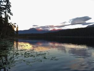 Sunset at the Kitseguecla Lake